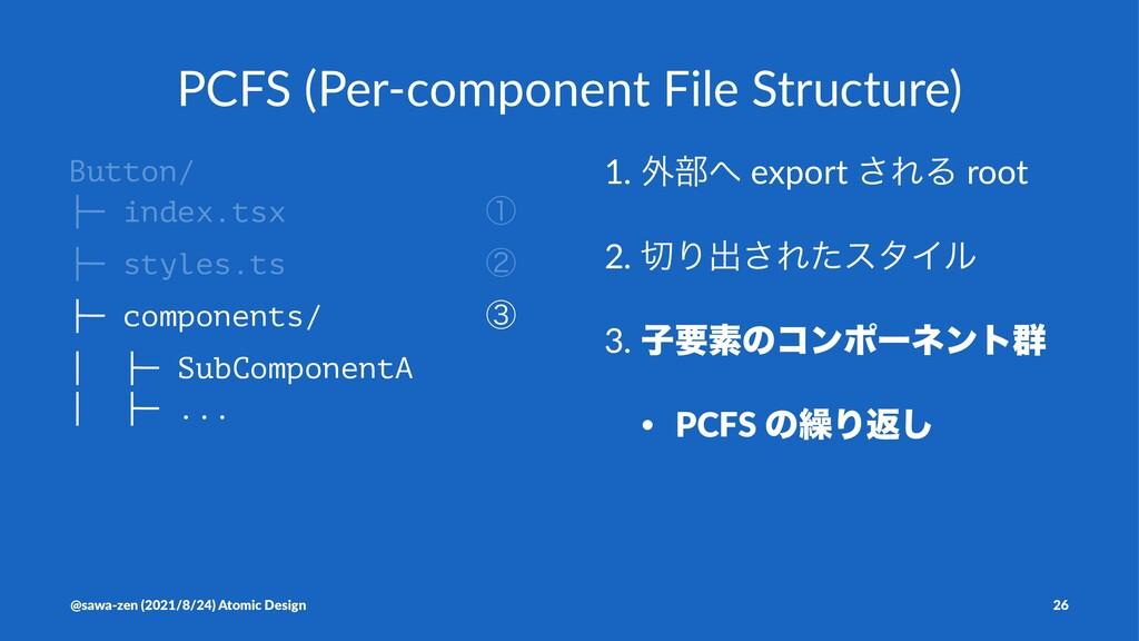 PCFS (Per-component File Structure) Button/ ├─ ...