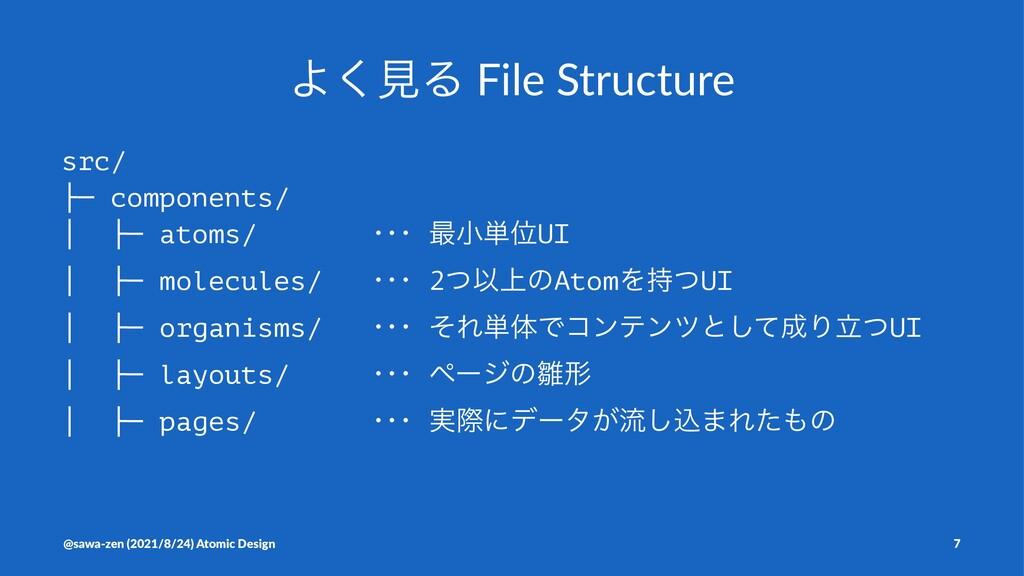 Α͘ݟΔ File Structure src/ ├─ components/ │ ├─ at...
