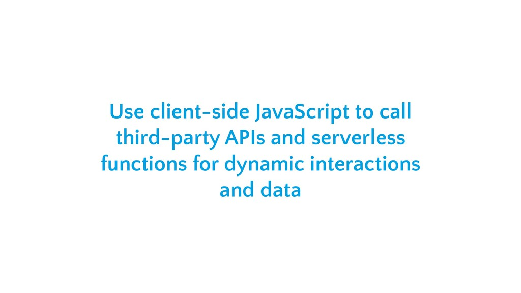Use client-side JavaScript to call third-party ...