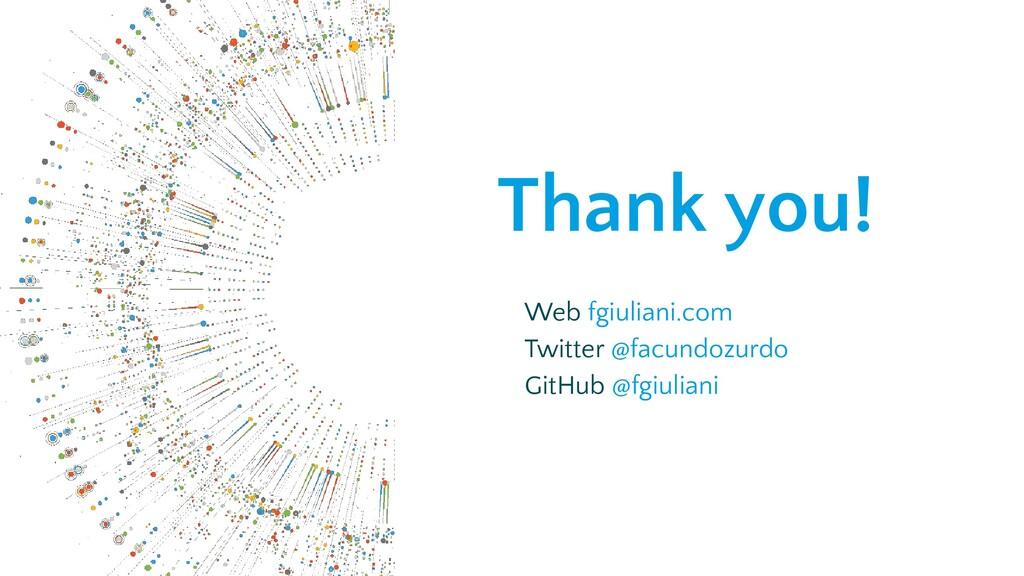 Thank you! Web fgiuliani.com Twitter @facundozu...