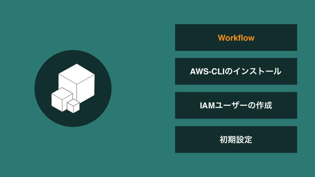IAMϢʔβʔͷ࡞ ॳظઃఆ Workflow AWS-CLIͷΠϯετʔϧ