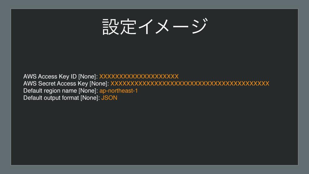 ઃఆΠϝʔδ AWS Access Key ID [None]: XXXXXXXXXXXXXX...