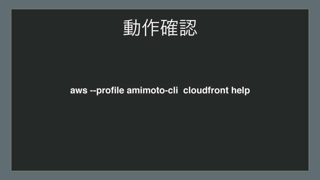 aws --profile amimoto-cli cloudfront help ಈ࡞֬