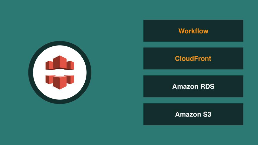 Amazon RDS Amazon S3 Workflow CloudFront