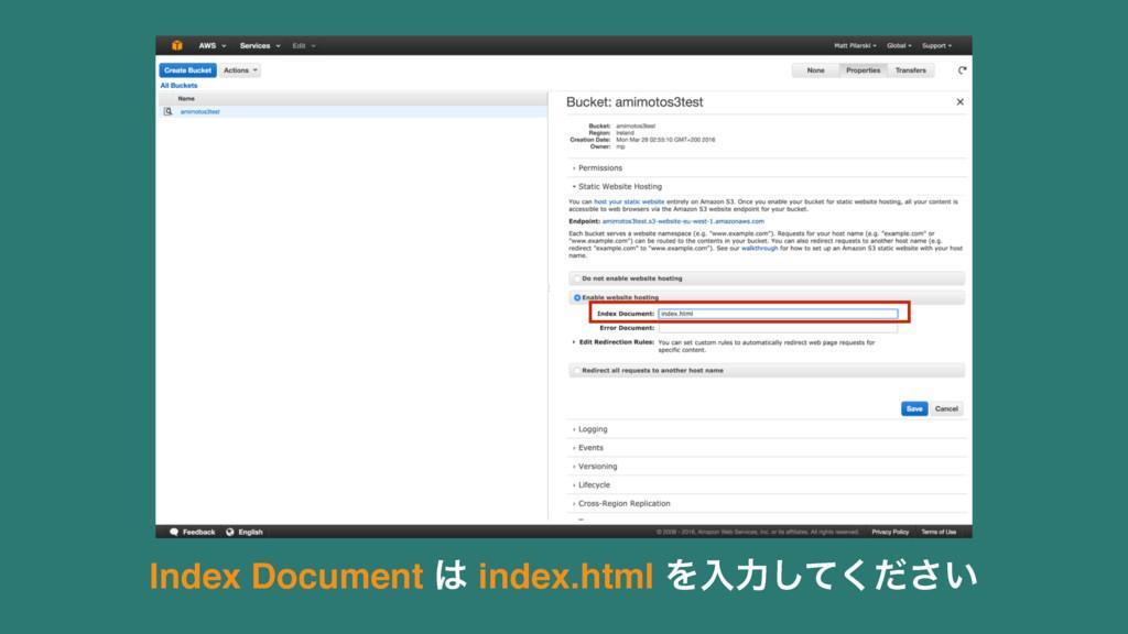 Index Document  index.html Λೖྗ͍ͯͩ͘͠͞