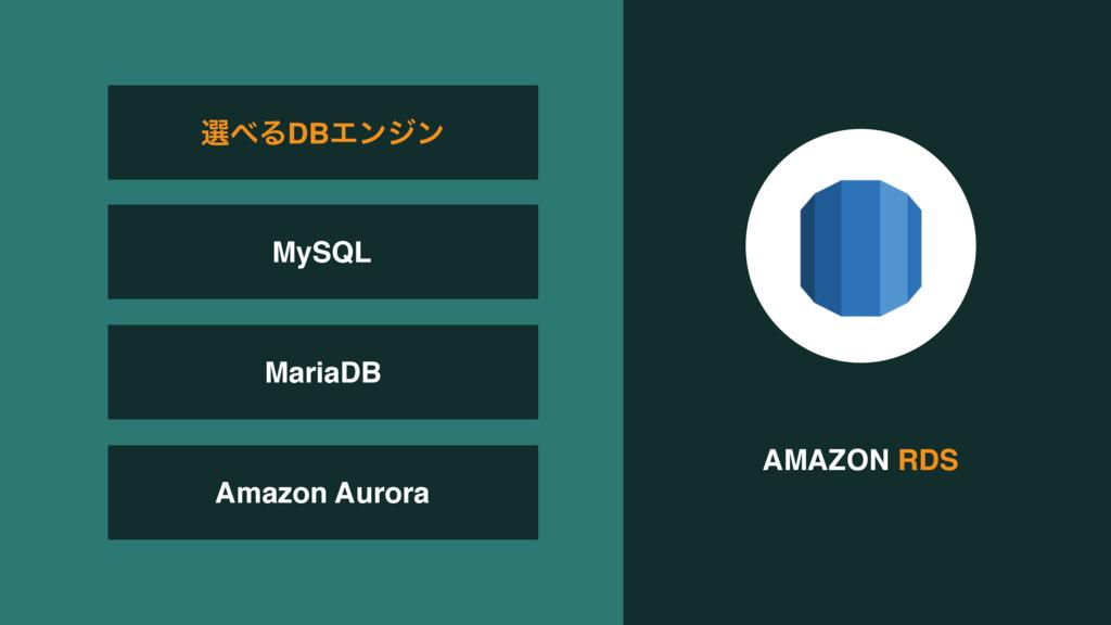 AMAZON RDS MariaDB Amazon Aurora બΔDBΤϯδϯ MySQL