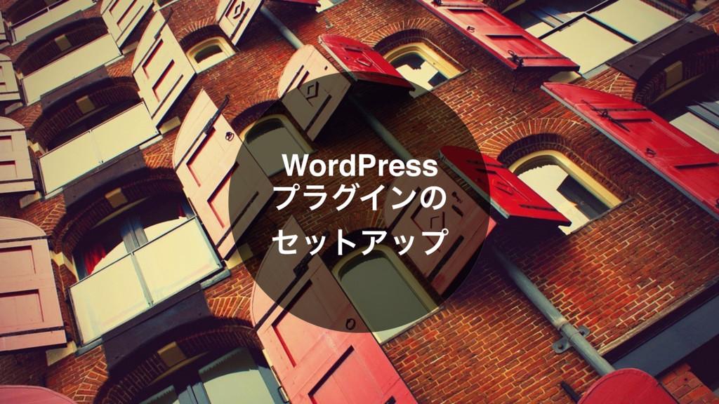 WordPress ϓϥάΠϯͷ ηοτΞοϓ