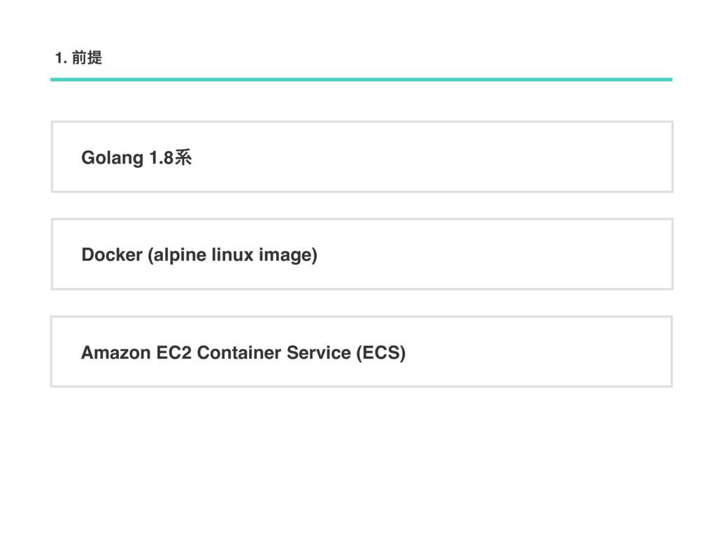 Golang 1.8ܥ Docker (alpine linux image) Amazon ...