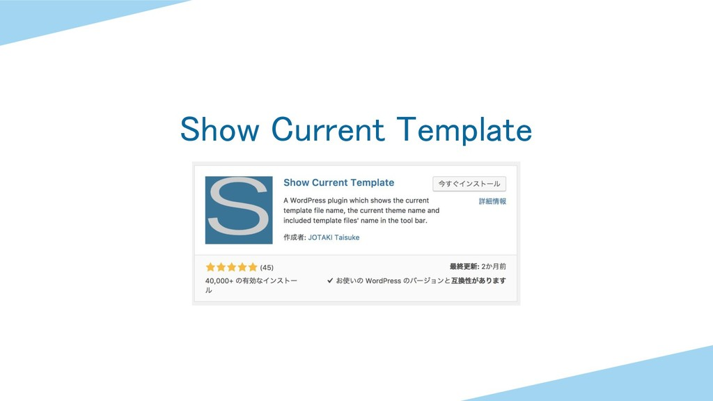 Show Current Template