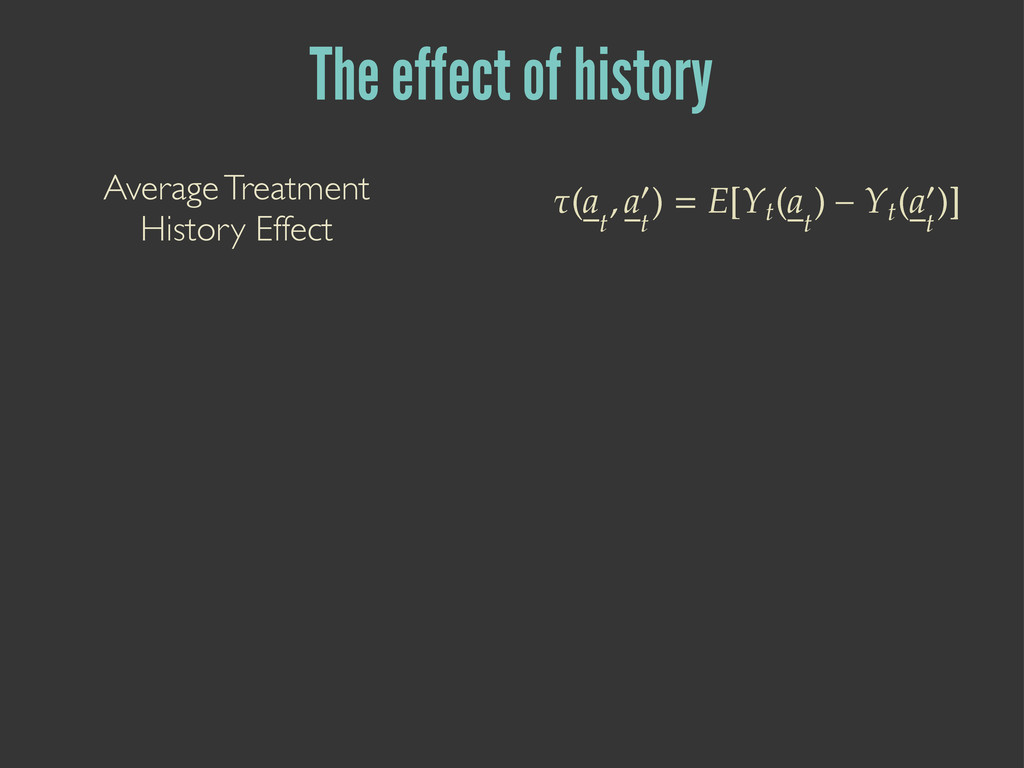 The effect of history ণ ۼ   ۼƓ    ۦ=ۺ  ۼ ...