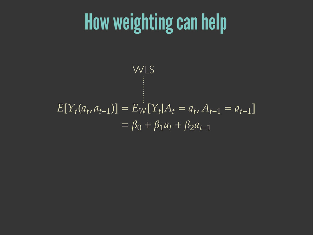 How weighting can help ۦ=ۺ  ۼ  ۼ˞ ?  ۦ۸ ...
