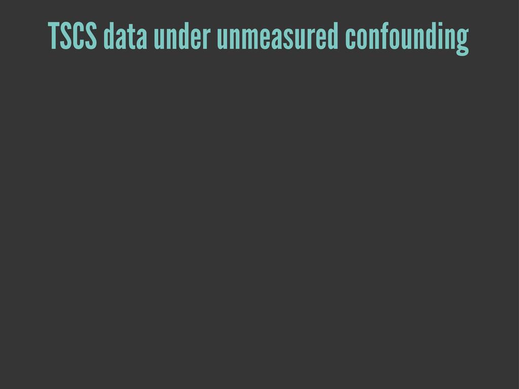 TSCS data under unmeasured confounding