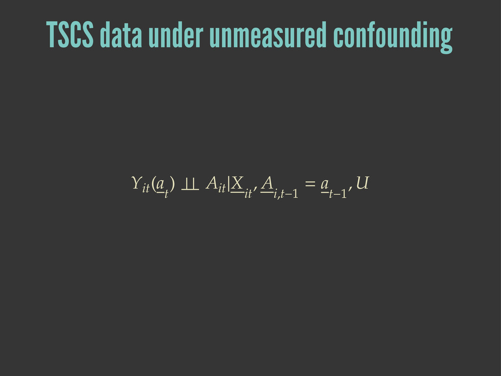 TSCS data under unmeasured confounding ۺ܃  ۼ ...
