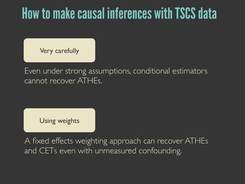 How to make causal inferences with TSCS data Ve...