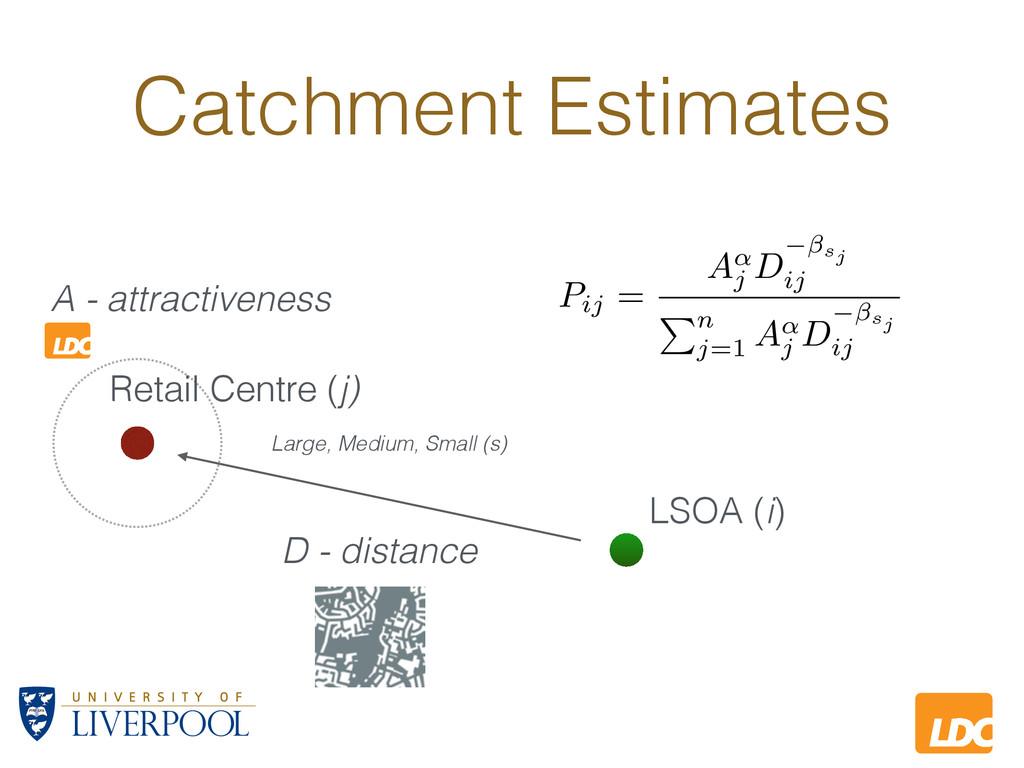L LDC Catchment Estimates LSOA (i) A - attracti...