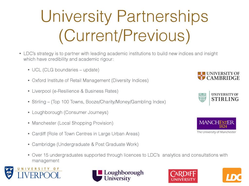 L LDC University Partnerships (Current/Previous...