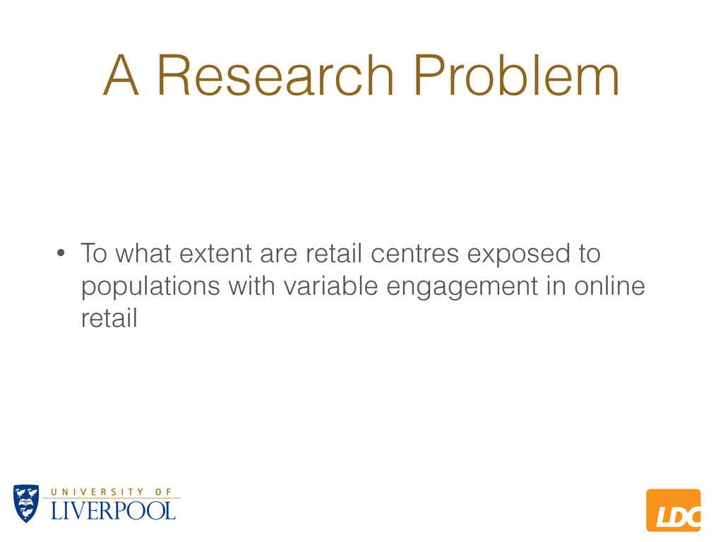 L LDC A Research Problem • To what extent are r...