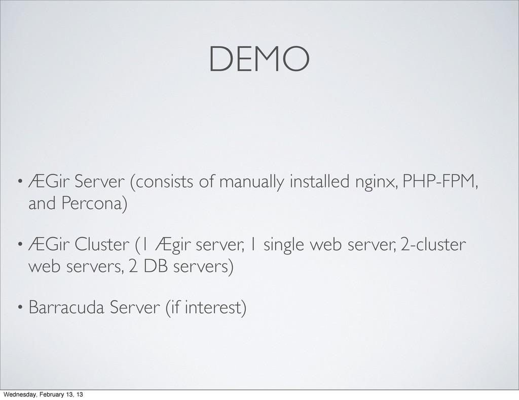 DEMO • ÆGir Server (consists of manually instal...