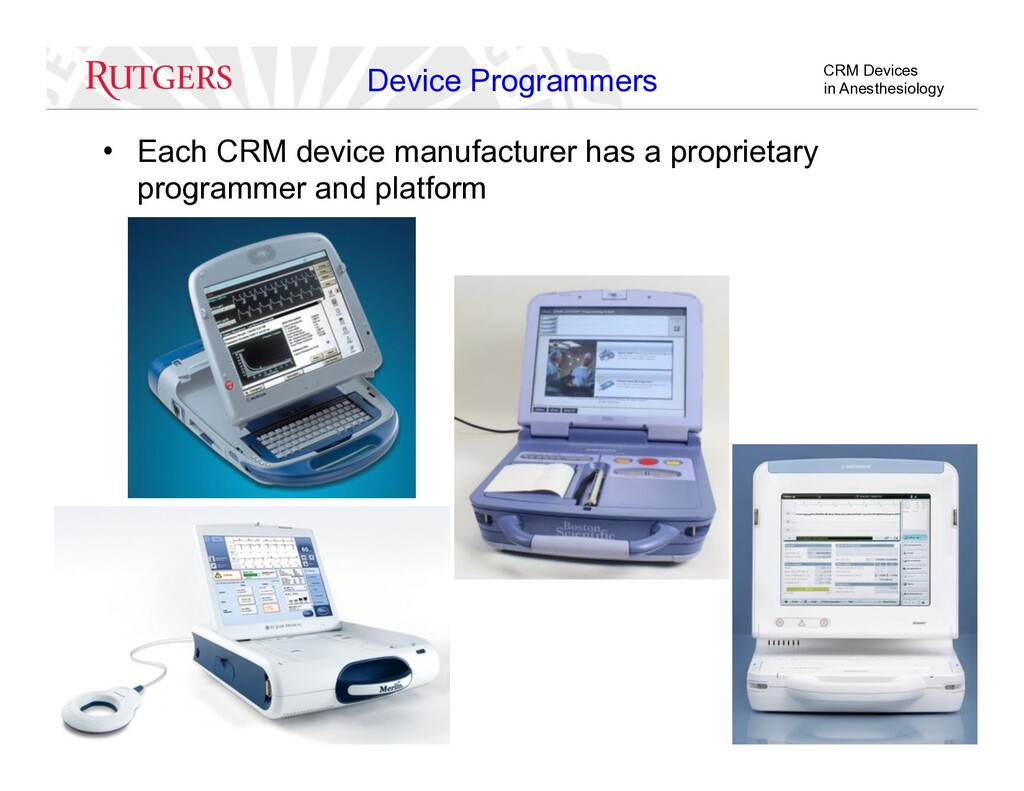 CRM Devices in Anesthesiology Device Programmer...