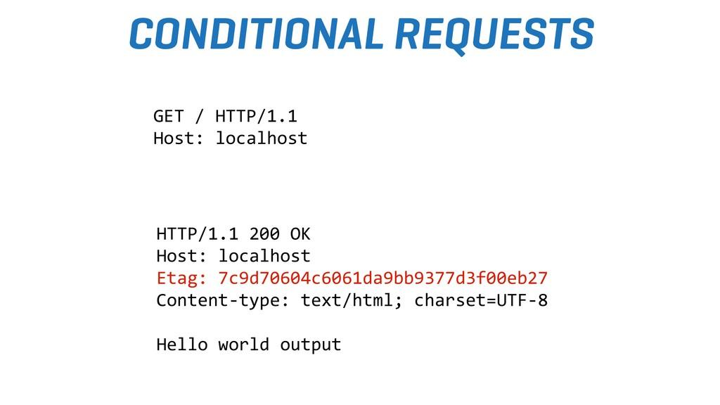 CONDITIONAL REQUESTS HTTP/1.1 200 OK Host: loca...
