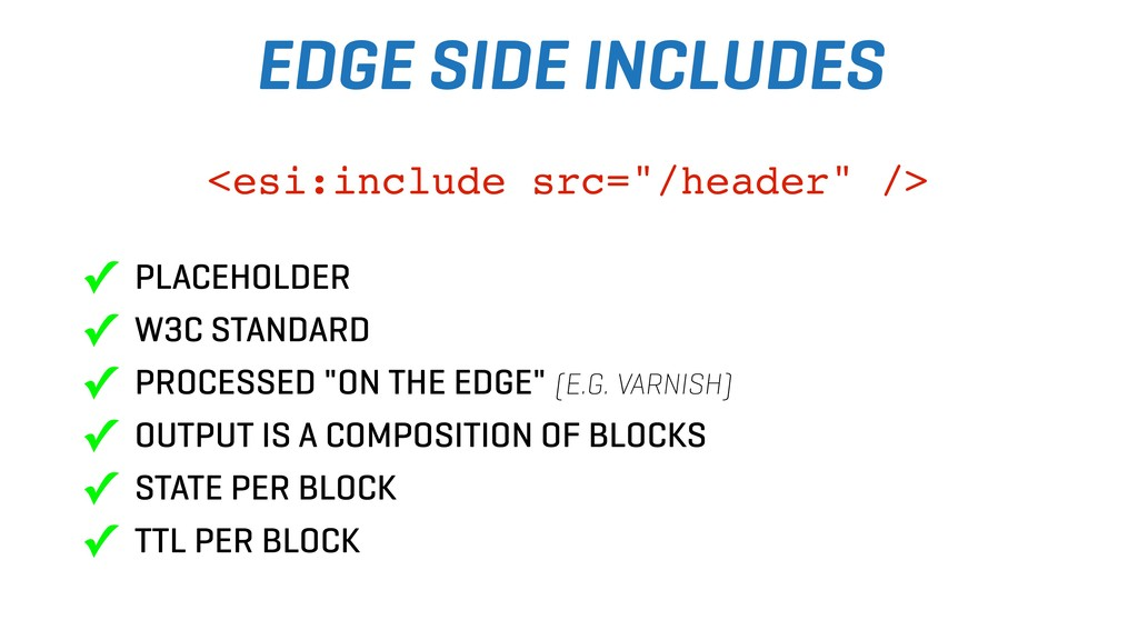 EDGE SIDE INCLUDES ✓ PLACEHOLDER ✓ W3C STANDARD...