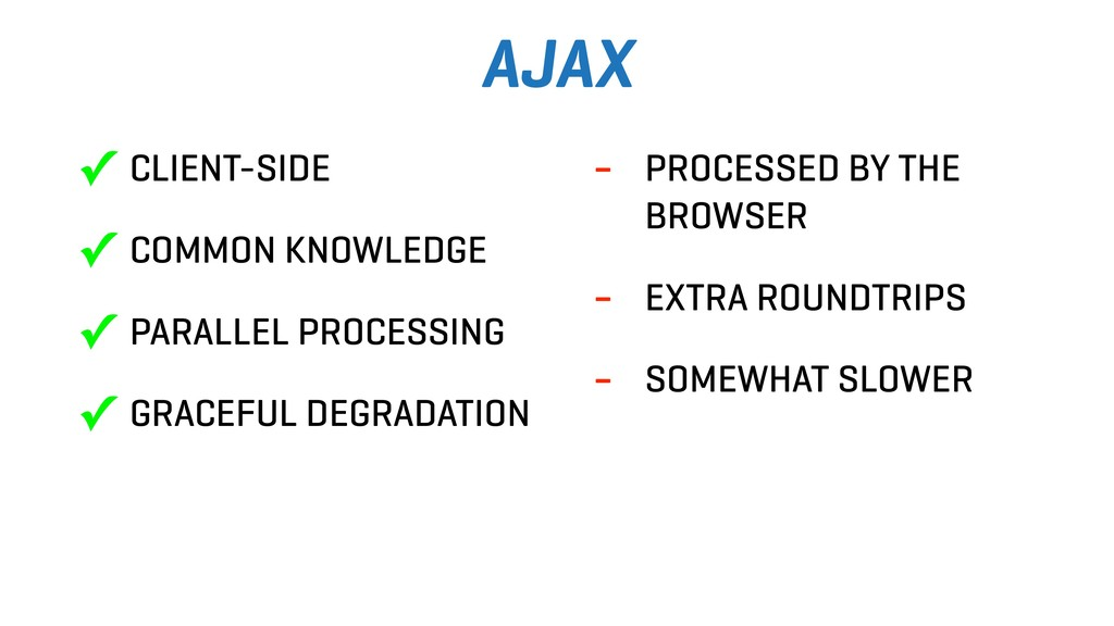 AJAX ✓ CLIENT-SIDE ✓ COMMON KNOWLEDGE ✓ PARALLE...