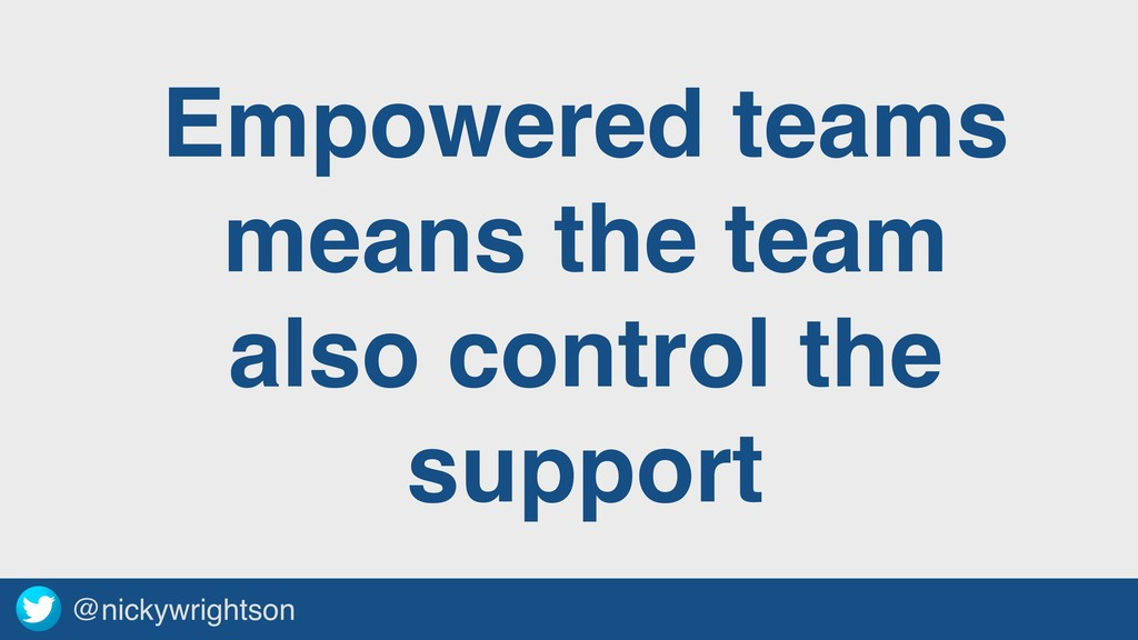 @nickywrightson Empowered teams means the team ...