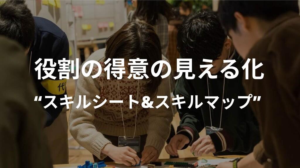 """役割の得意の見える化 """"スキルシート&スキルマップ"""""""