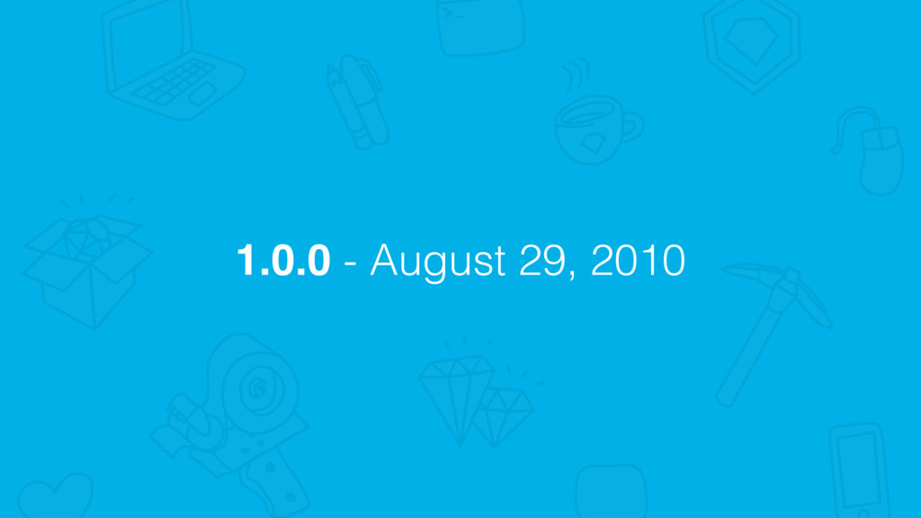 1.0.0 - August 29, 2010