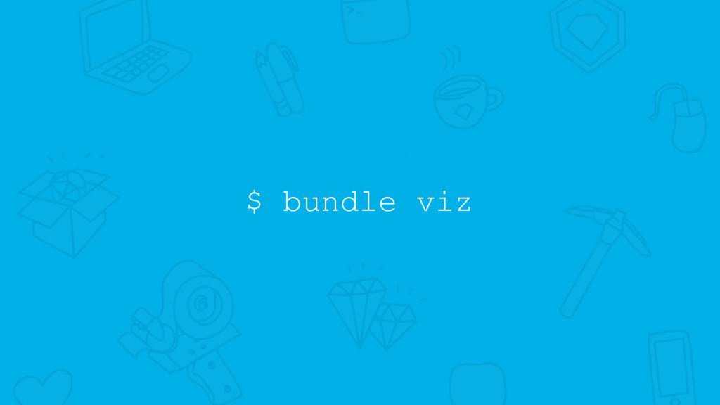 $ bundle viz
