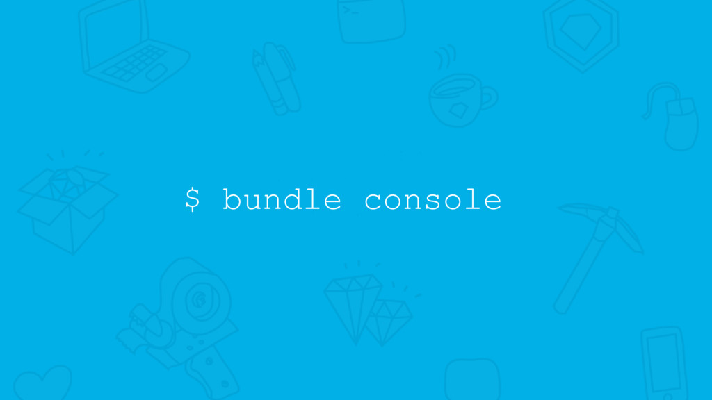 $ bundle console