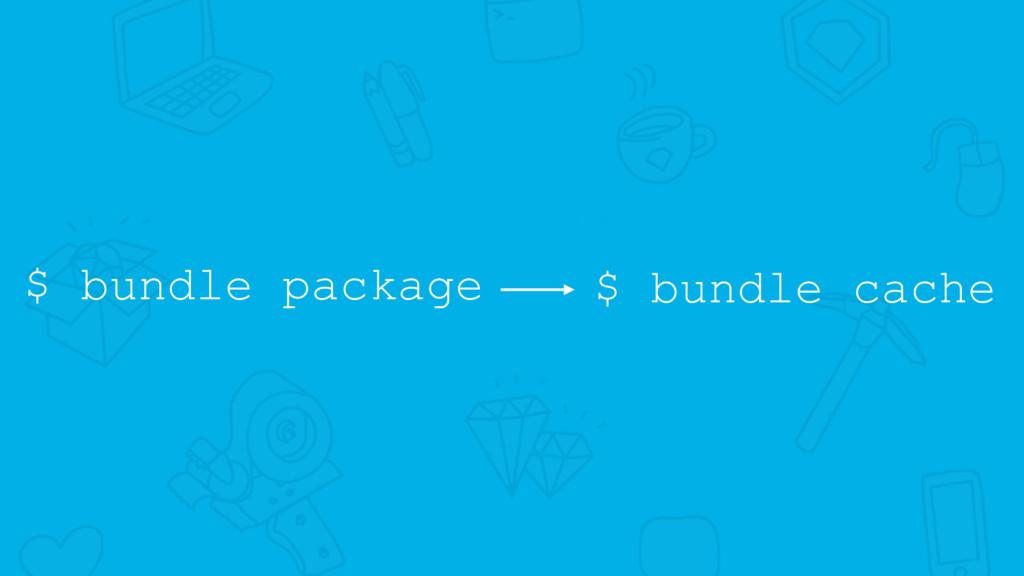 $ bundle package $ bundle cache