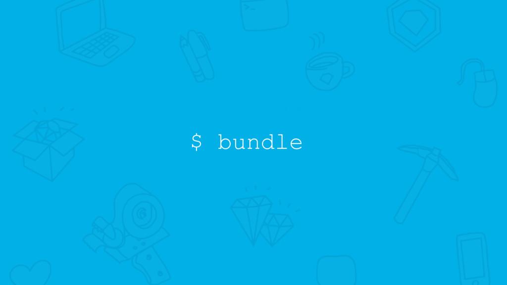 $ bundle