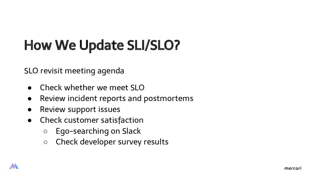 How We Update SLI/SLO?