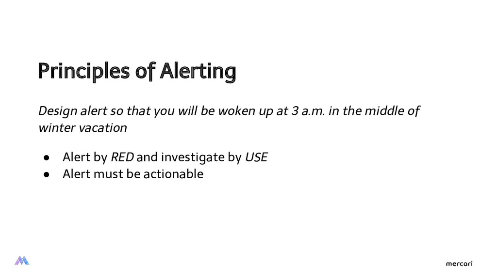 Principles of Alerting