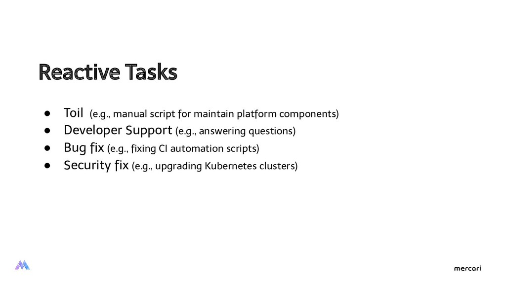 Reactive Tasks