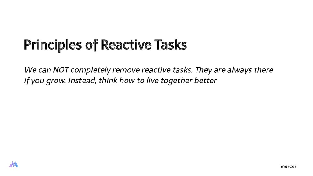 Principles of Reactive Tasks