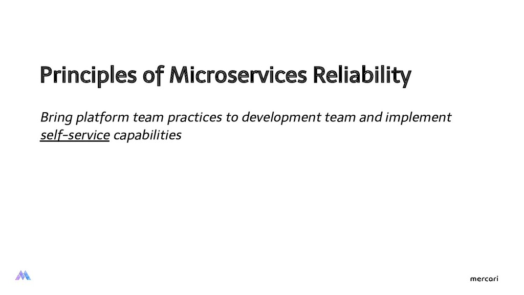 Principles of Microservices Reliability