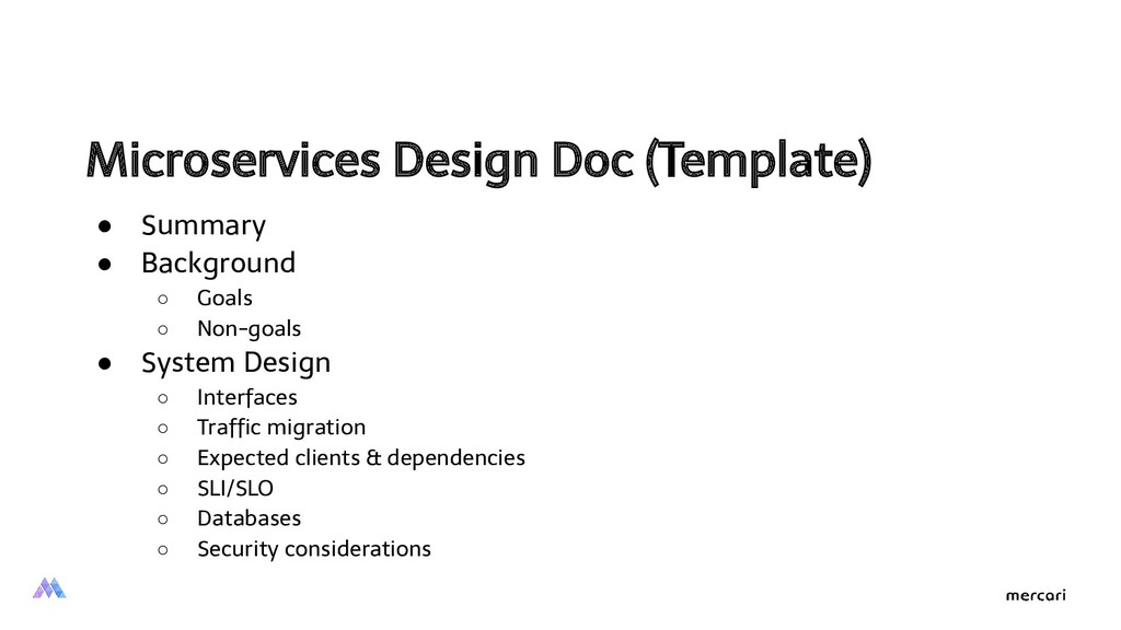Microservices Design Doc (Template)