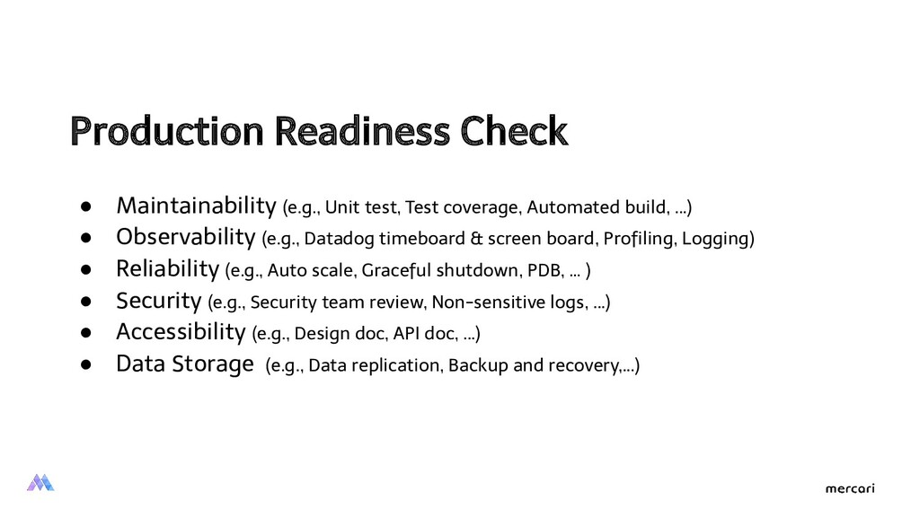 Production Readiness Check