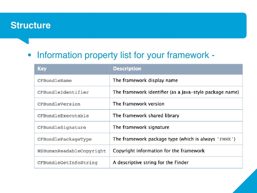 Structure • Information property list for your ...