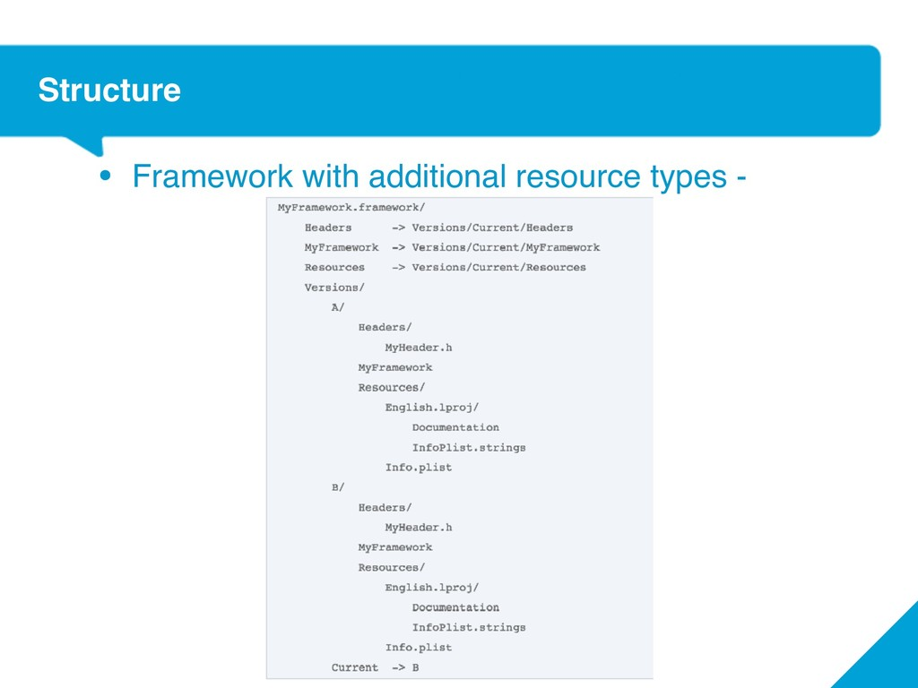 Structure • Framework with additional resource ...
