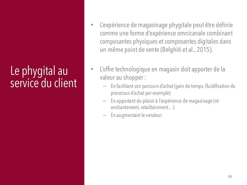 36 Le phygital au service du client • L'expérie...