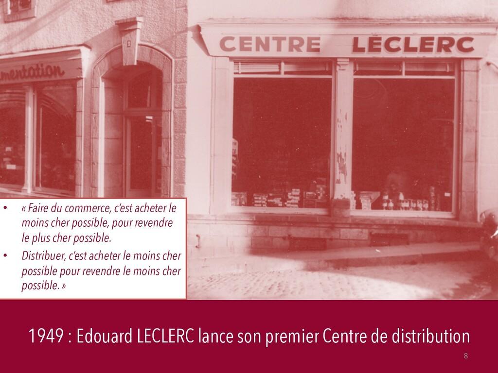 1949 : Edouard LECLERC lance son premier Centre...