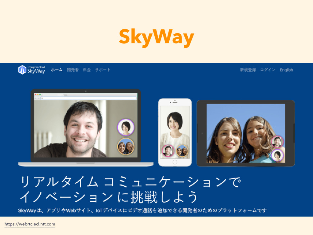 SkyWay https://webrtc.ecl.ntt.com