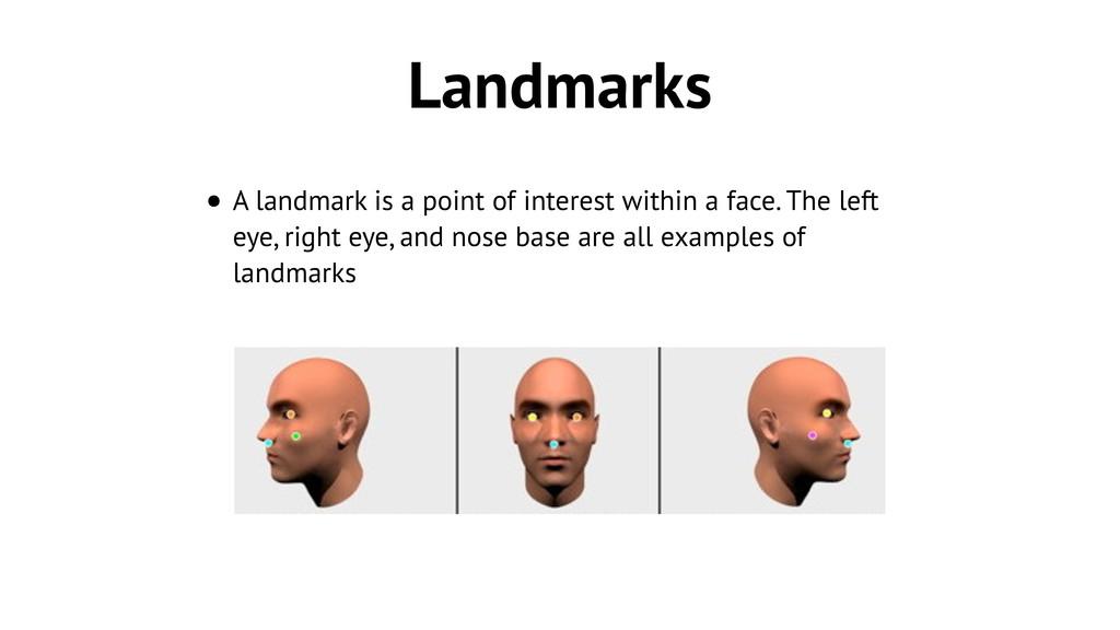 Landmarks • A landmark is a point of interest w...