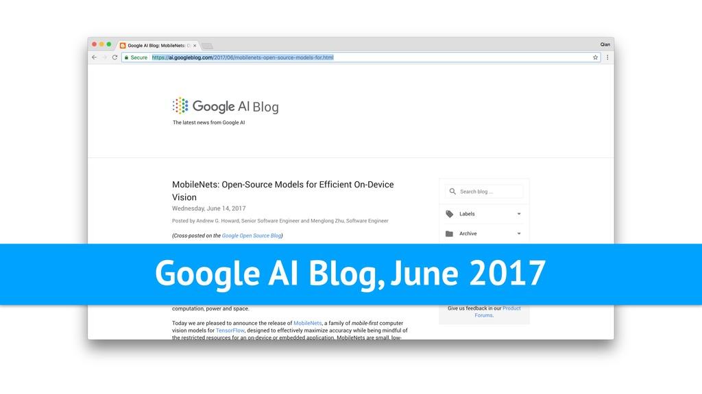 Google AI Blog, June 2017
