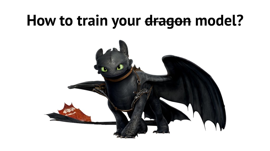 How to train your dragon model?