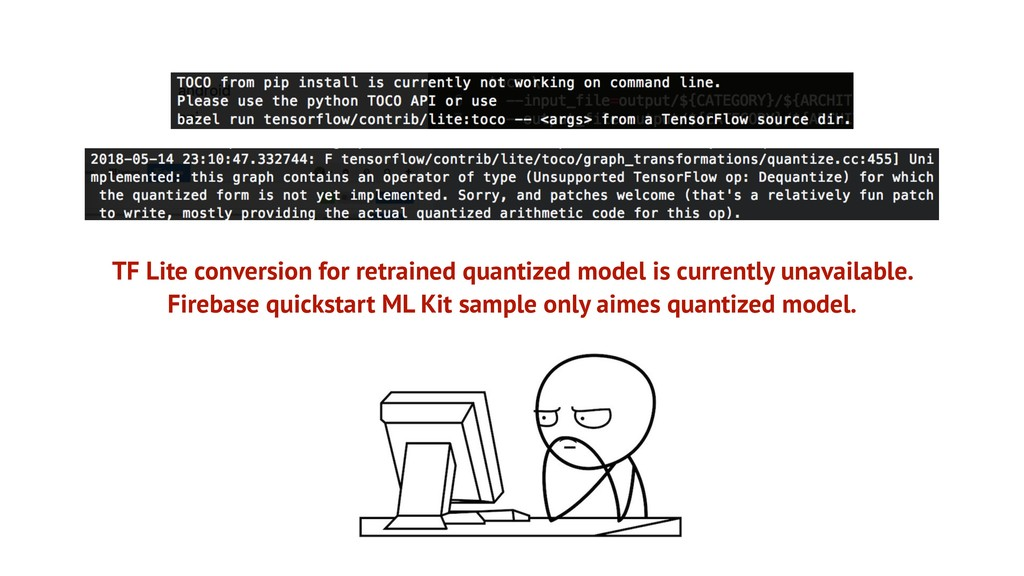 TF Lite conversion for retrained quantized mode...