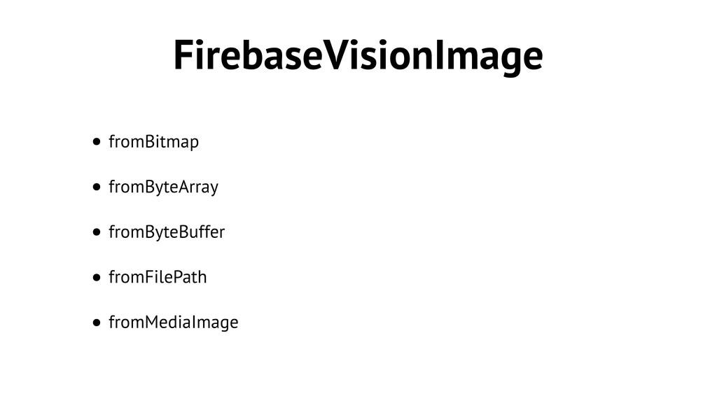 FirebaseVisionImage • fromBitmap • fromByteArra...